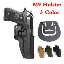 Airsoftsports Tactical Gear Beretta M9 92 96 Gun Case Right Hand Carry Belt Holster Military Combat Pistol Waist