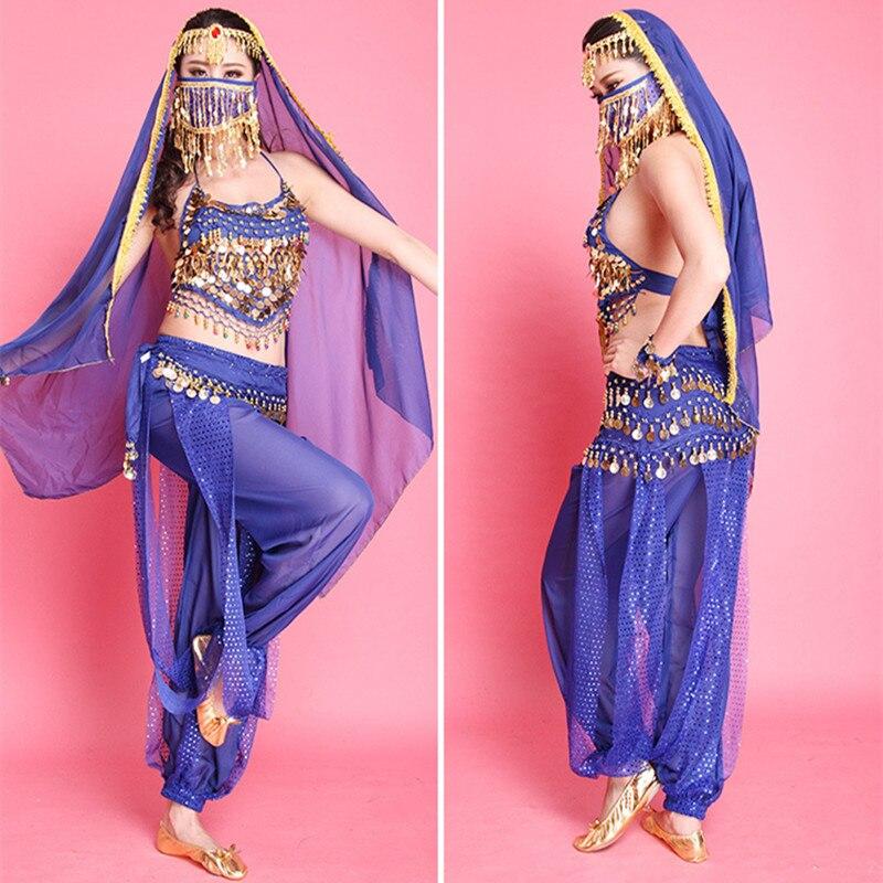 6 colores Bellydance para la competencia niñas trajes traje indio ...