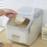 Rice bucket storage rice box sealed pest control rice cylinder plastic household kitchen rice storage box wx10091525