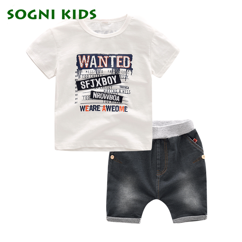 Kids Boys Clothes Summer Baby casual Boy Clothes Children Toddler Clothing Set 100 Cotton short sleeves