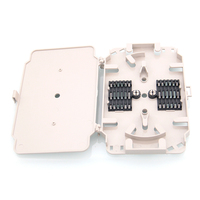 10PCS Packe 12cores Fiber Optic Splice Tray With ABS Material Use FTTH Fiber Optic Termination Box
