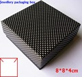 Free shipping wholesale 60pcs/lot Necklace Box Bracelet Bangle Packaging Black Color Square Paper Box 8*8*4cm