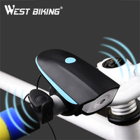 Westingバイクサイクリングバイクledフロントライト防水自転車ランプブラケットクリップヘッドランプ懐中電灯5色サイクリングライト