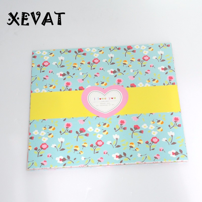 2017 new floral origami paper diy printing paper kindergarten paper cut embossed papercranes folding beautiful colored paper in craft paper from home - Printing Paper For Kindergarten