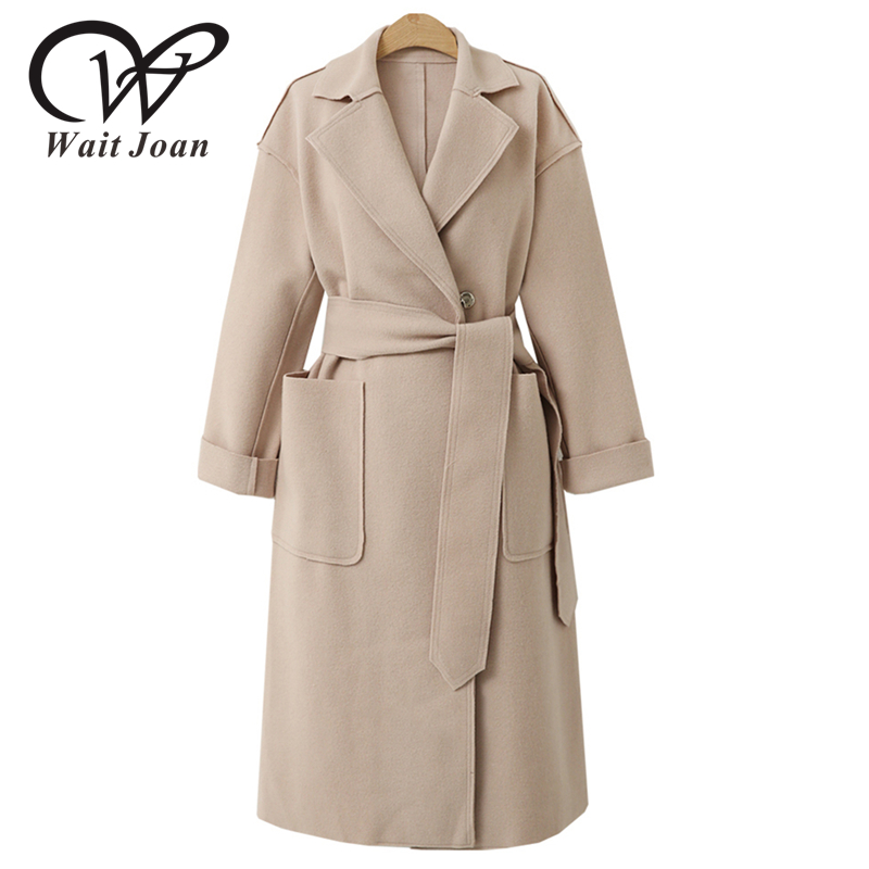 Autumn Winter   Trench   Coat Women Clothes Female Long Coats Streetwear Elegant Korean Trenchcoat Adjustable Waist Raincoats WJ176
