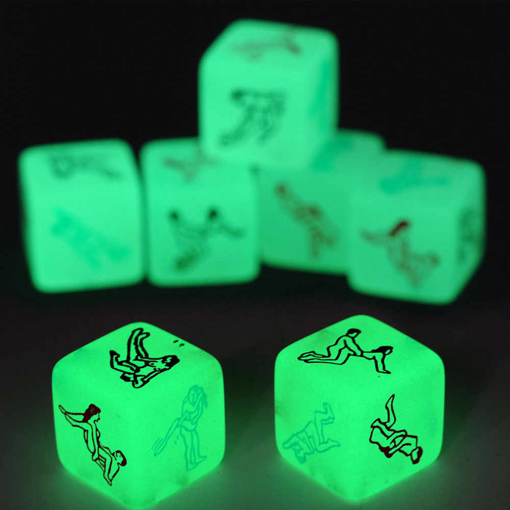 Grownups Toy Erotic Dice Game Toy Party Fun Adult Couple Glow in the Dark LuminousToys p# dropship