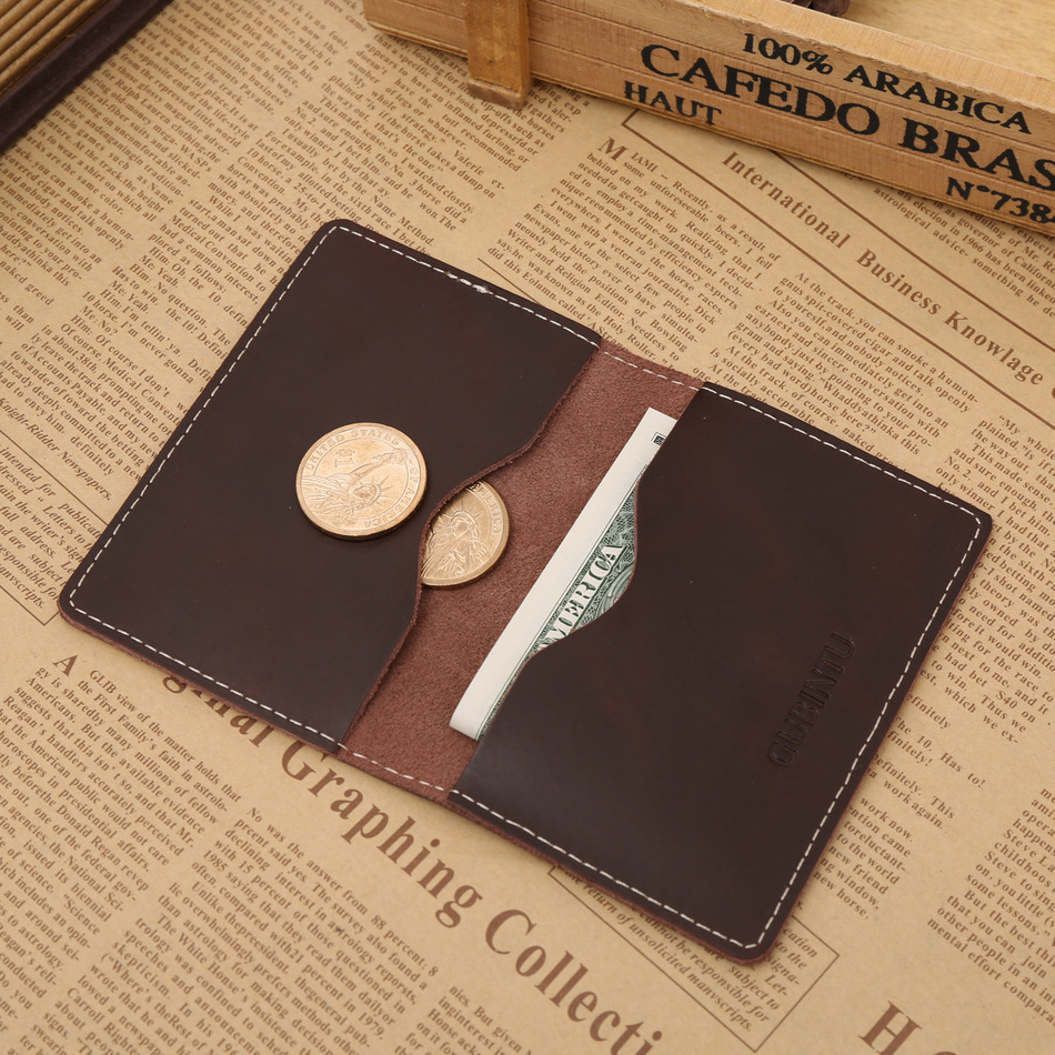TWO Blk GENUINE LEATHER Business//Credit Card Wallets