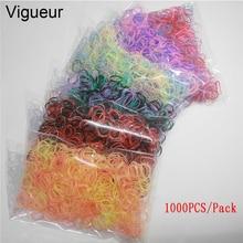 Vigueur 19 Styles Mix Color 1000pcs/Pack 1CM Silicone TPU Bands Children Hair Accessories Women Rubber Elastics Girls Gum