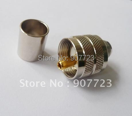 PL259 UHF Male Crimp Plug RF Connector For RG8 RG213 LMR400 Cable