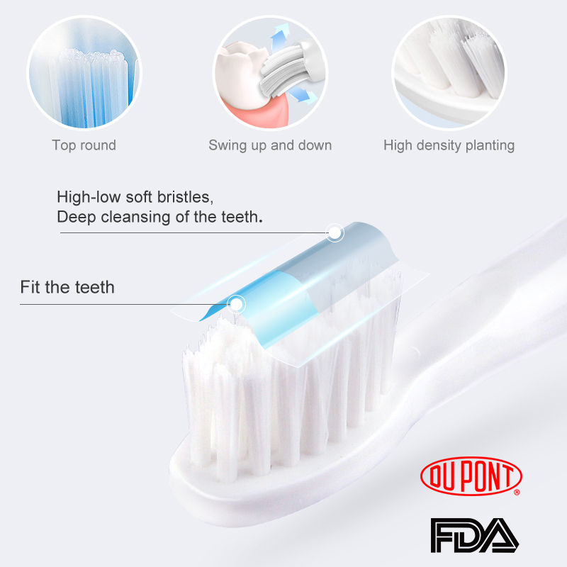SEAGO Electric Toothbrush Sonic Adult Battery Tooth Brushes Gum Health Waterproof Best Gift with 3 Replacement Brush Heads SG910