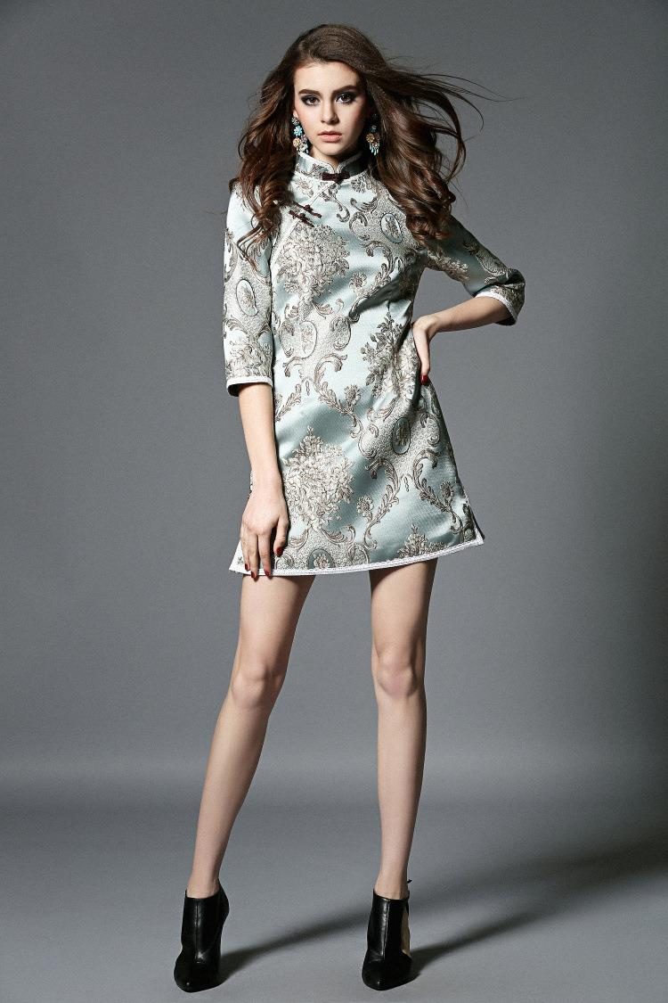 4bec970c3 Woman dress cheongsam lace half sleeve cheongsam fashion plus size ...