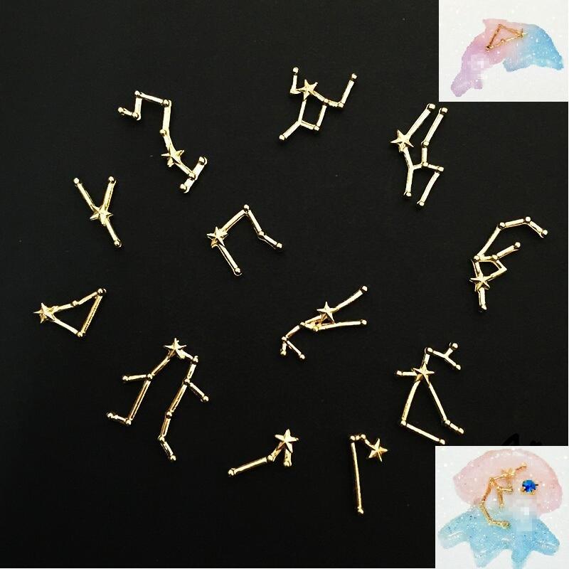 Эпоксидная форма для изготовления украшений «сделай сам», 1 комплект, 12 созвездий, металл