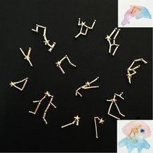 1 conjuntos 12 constelações material de metal molde cola epoxy makeing jóias enchimento para jóias diy