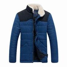 Thickening Fleece Mens 2016 Winter New Men' Warm Down Jacket Collar Parka Men Marca Casual Outdoors Down Jacket