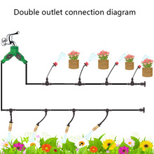 5m25m30m Garden Automatic Pouring Drip Irrigation System Adjustable Spray Watering