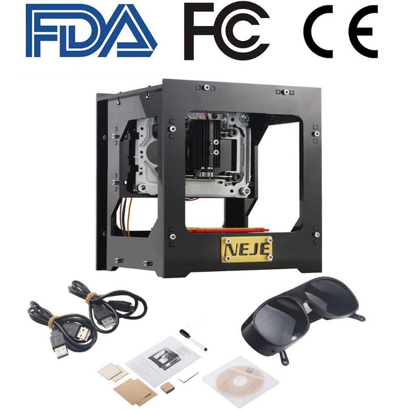 2018 actualización NEJE 3D 1000 MW CNC Crouter USB CNC de corte por láser mini máquina de grabado CNC máquina de impresión láser grabador impresora