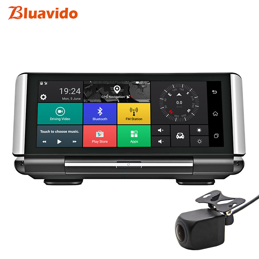 "Bluavido 7"" 4G Car Dash Camera Android GPS Nav ADAS FHD 1080P Car Video Recorder Night Vision WiFi Dual cam with Reverse image|DVR/Dash Camera| |  - title="