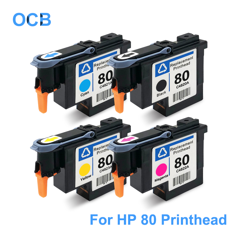 For HP 80 Printhead C4820A C4821A C4822A C4823A Print Head For HP Designjet 1050 1055 1055cm 1050c Plus Printer ( BK C M Y ) for hp 789 designjet printhead ch612a ch613a ch614a print head compatible for hp designjet l25500 printer head bk y c lc m lm