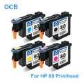 Per HP 80 Testina di Stampa C4820A C4821A C4822A C4823A Testina di Stampa Per HP Designjet 1050 1055 1055cm 1050c Plus Stampante (BK C M Y)