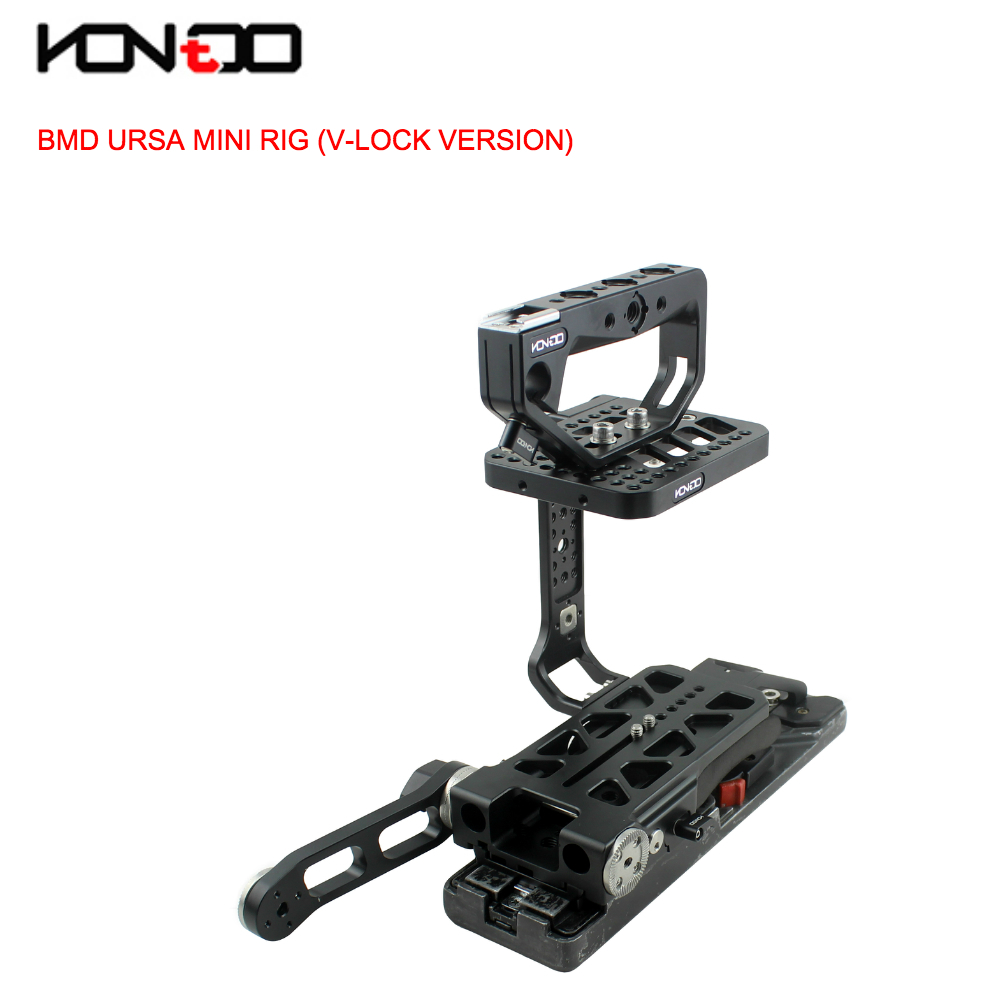 15MM URSA Mini Rig Kit Cage Baseplate Top handle with V-lock VCT Version for BlackMagic URSA Mini camera BMD Film HDV Camera jtz dp30 camera cage baseplate rig for blackmagic ursa mini 4k 4 6k ef pl cinema