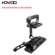 15 MM URSA Mini Kit Gaiola Baseplate Rig alça Superior com V-lock VCT Versão para BlackMagic Câmera HDV Filme URSA Mini câmera BMD