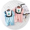 Newborn baby clothes lion patchwork cartoon cotton rompers long sleeve jumpsuit for girls boys summer infant costume girl clothe