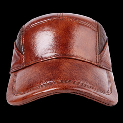2017 New Arrival Baseball Hat Male Female Fashion 100% Genuine Leather Cap Adult Casual Outdoor Baseball Cap Adjustable B-7187