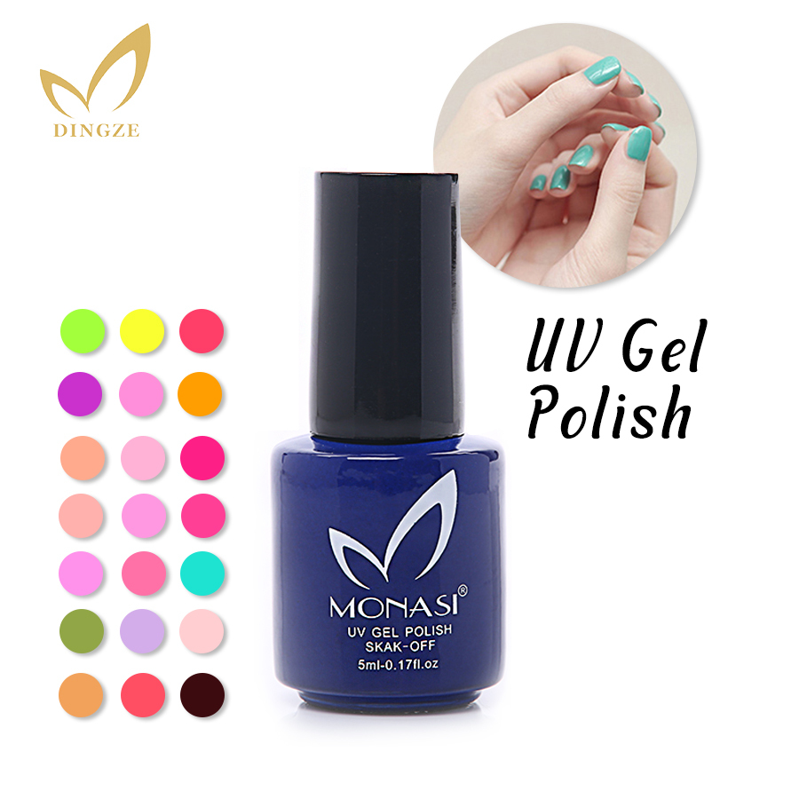 MONASI Free Shipping Magic Pretty Long Lasting Green Color Nail Gel UV Varnish Fast Dry Charming 5ml/pcs (DA121~DA151)