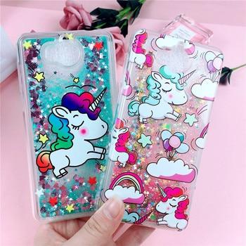 Unicorn Liquid Case on for Huawei Y6 2018 Cover for Huawei Y6 2017 / Y5 2017 / Y3 2017 Case Glitter Dynamic Soft TPU Phone Cases