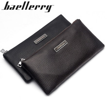 Baellerry Men Wallets Classic Long Style Card Holder Male Purse Quality Zipper Large Capacity Big Brand Luxury Wallet For