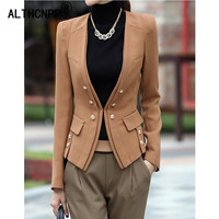 Women Blazer Feminino Spring Autumn New Korean Women's Jacket Slim Thin Double breasted Long Sleeve Small Suit Blazer Mujer