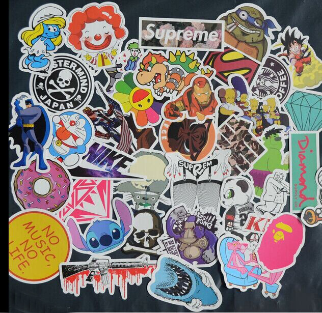 Kinds Of Stickers Graffiti Stickers Pvc Waterprof Sunscreen A Variety Of Styles Cartoon Animation Logos Sports  On Aliexpress Com Alibaba Group