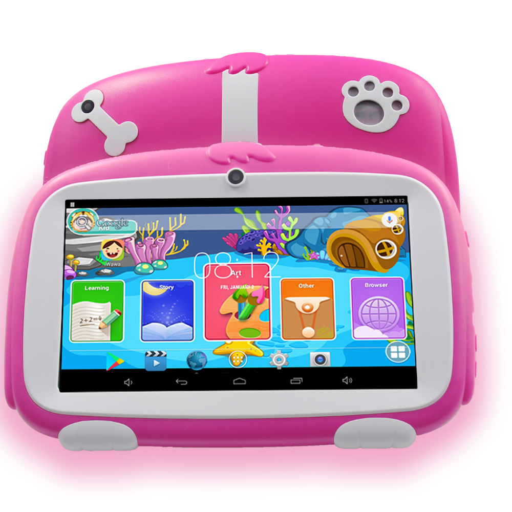 2018 New BDF Android 4.4 Tablet Pc 7 Inch WiFi Kids Tablet 8G ROM 1024*600 HD Infantil Children's Learning Cheap 89 Baby Tablets