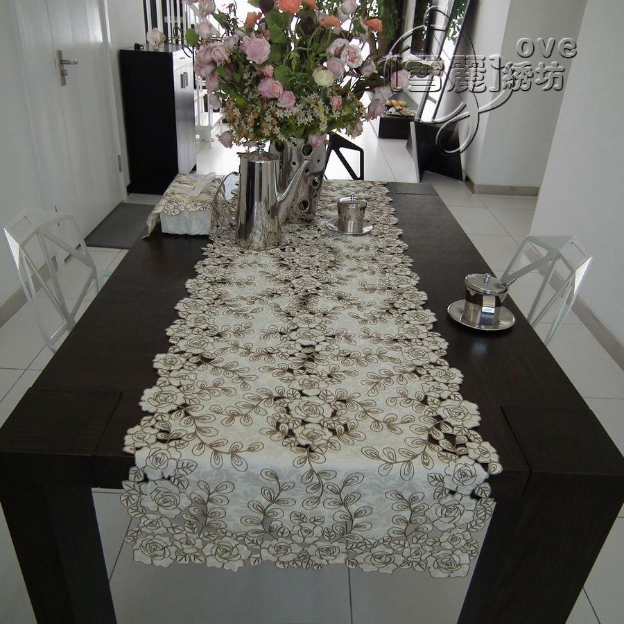 Деревенский ткань вышивка мода обеденный стол ткань журнальный столик бегун коврик вырез крышки полотенце