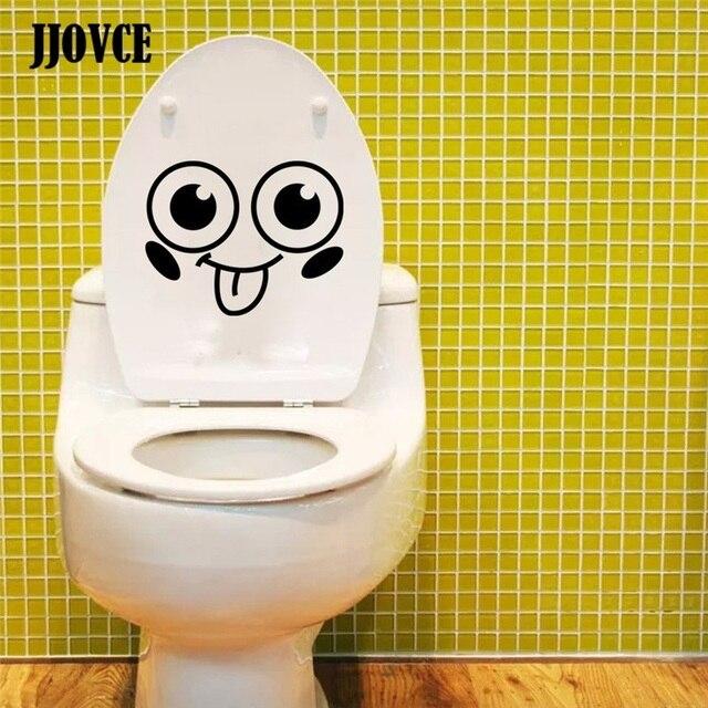 JJOVCE Lustige Design Lachelndes Gesicht Muster Wasserdicht Wc Aufkleber Nette Emoji Fur Kinder Madchen