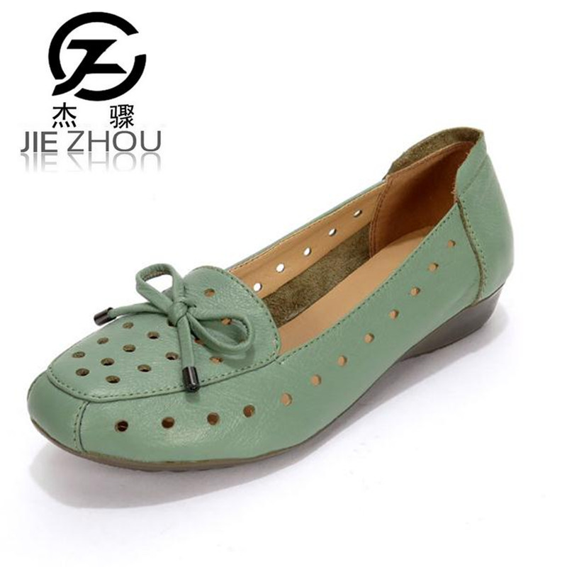 2018 summer soft bottom comfortable leather flat with breathable female shoes Plus Size womens mother sandals Free shipping 2017 autumn and winter new plus velvet thick women s boots soft bottom comfortable breathable mother shoes wild leather