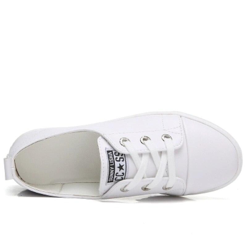 Casual Fu De Printemps Sneakers Lok Chaussures up 2 Blanc 2018 Dentelle 1 Plat Dames Femmes zgEqnw8