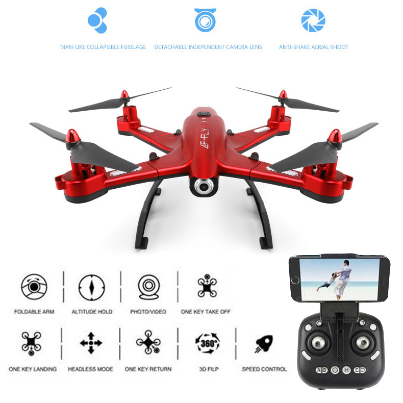 EBOYU(TM) Utoghter 69508-HW CF Mode Wifi FPV RC Quadcopter Drone With 3D Foldable Arm Altitude Hold 0.5MP Camera Headless Mode jjrc h49 sol ultrathin wifi fpv drone beauty mode 2mp camera auto foldable arm altitude hold rc quadcopter vs e50 e56 e57