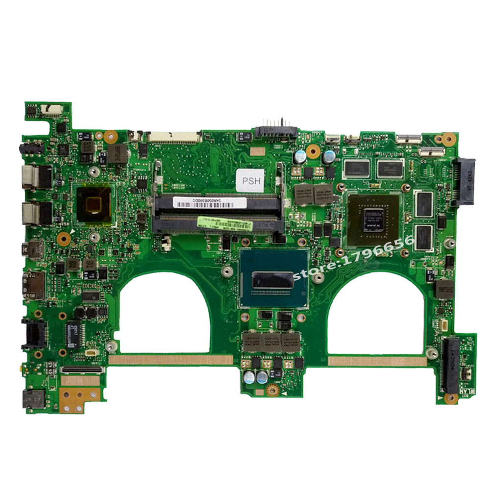 Купить с кэшбэком Send board+N550JV Motherboard i7-4700HQ gt750 For ASUS N550JK G550JK Q550J laptop MotherboardN550JV Mainboard N550JV Motherboard