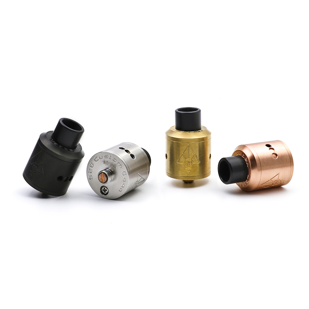 100% Original Custom vape GOON 528 RDA goon 22mm Vaporizer Rebuildable Dripping Atomizer With Drip Tips For Box Mod From Everzon e xy goon v1 5 rda atomizer 528 rda electronic cigarette atomizer tank rebuildable dripping atomizer adjustable
