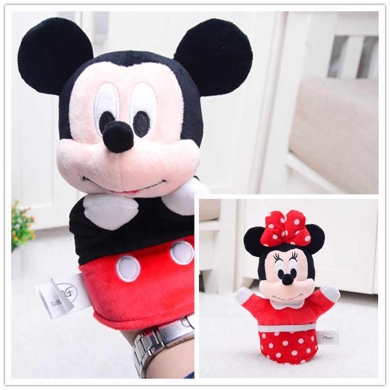 Boneka Boneka Mainan Boneka Plush Hewan Kartun Anime Jari Tangan Boneka Anak-anak Mainan Mewah Mickey Minnie Mouse