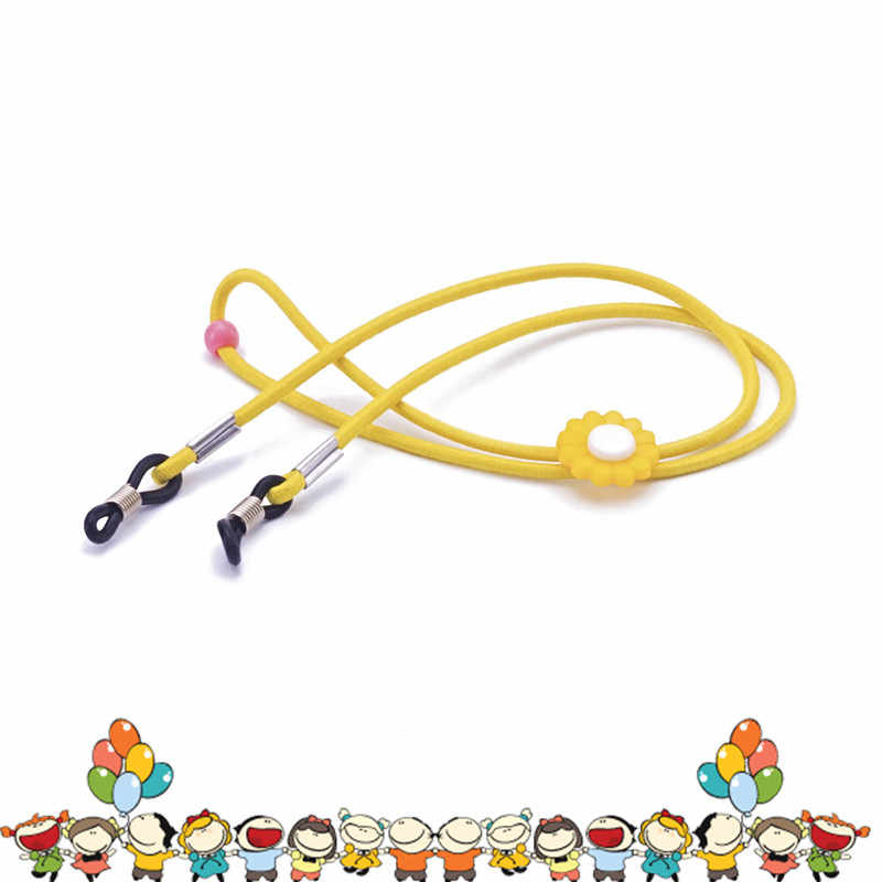 Elastic Acrylic Flower Beads Rope Chain Eyeglasses Chains Reading Glasses Sunglasses Strap Cord Holder Neck Headband Accessories