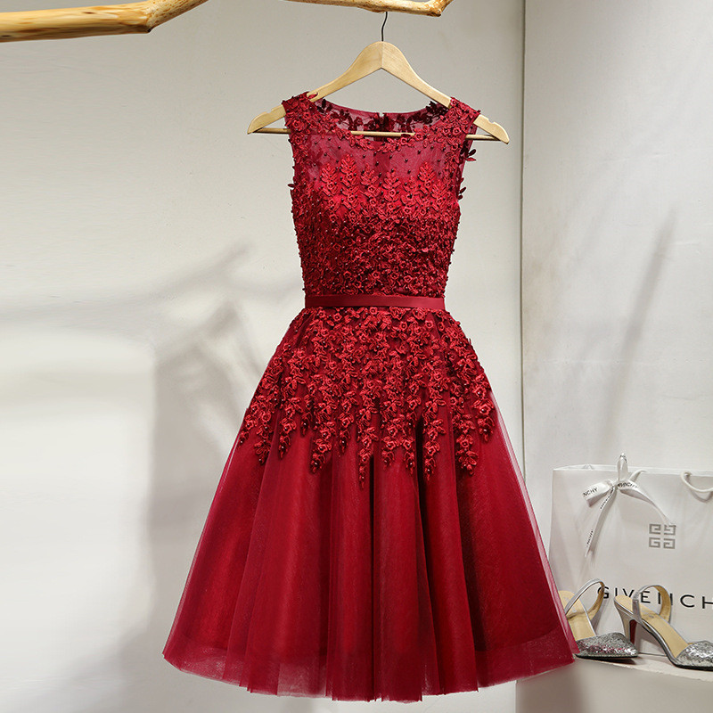 It-s-YiiYa-Lace-Many-Color-Illusion-Flowers-Beading-A-line-Knee-Length-Dinner-Bridesmaids-Dresses (4)