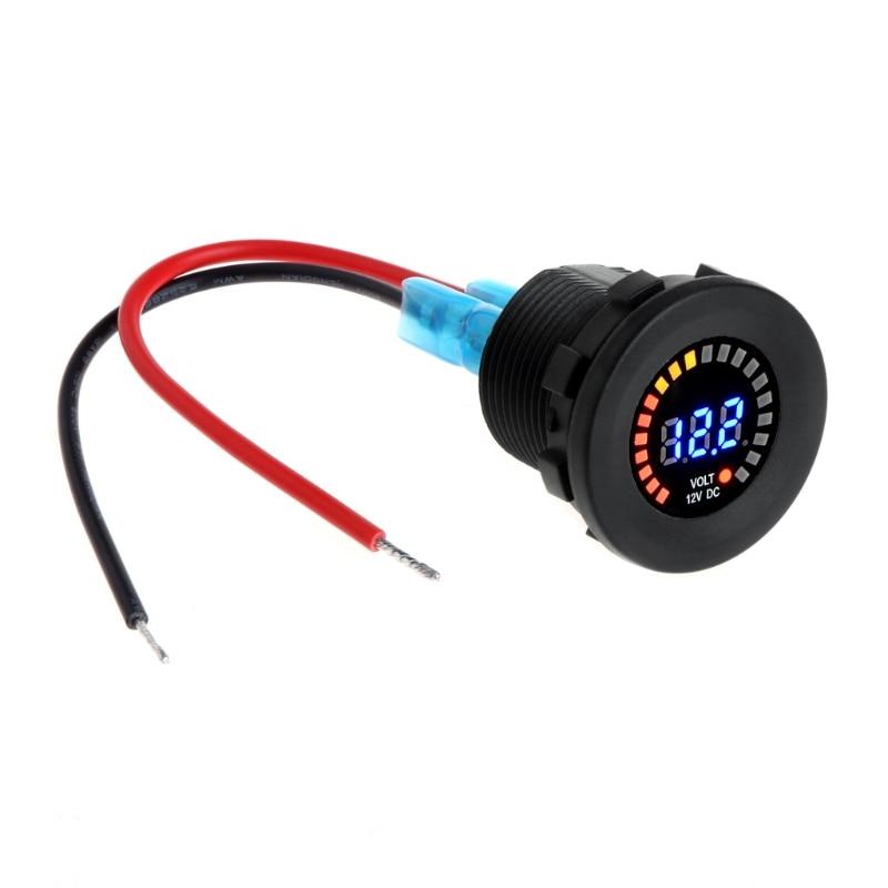 Blue Led Meter : Car motorcycle waterproof blue led digital panel display