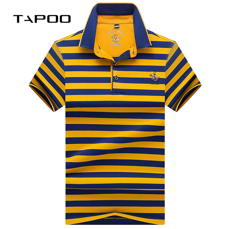 2019 Brand Summer High Quality New  Male Cotton Casual Short Sleeve Polo Shirt Men Breathable Fashion Striped POLO Shirts