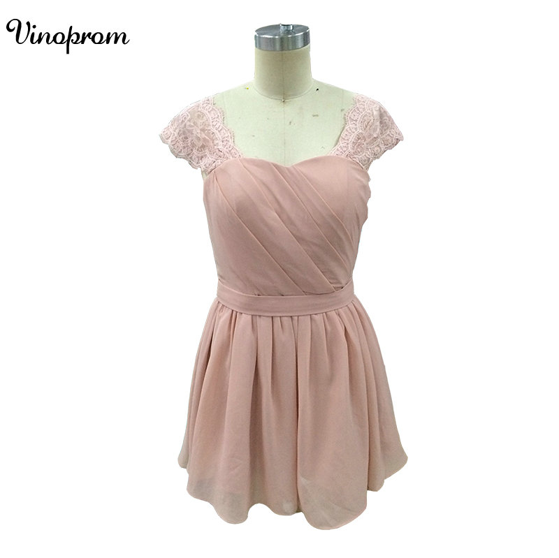 Elegant   Cocktail     Dresses   Vinoprom Sweetheart Backless Appliqued Lace Chiffon Blush   Cocktail     Dresses   For Party Robe Homecoming 20