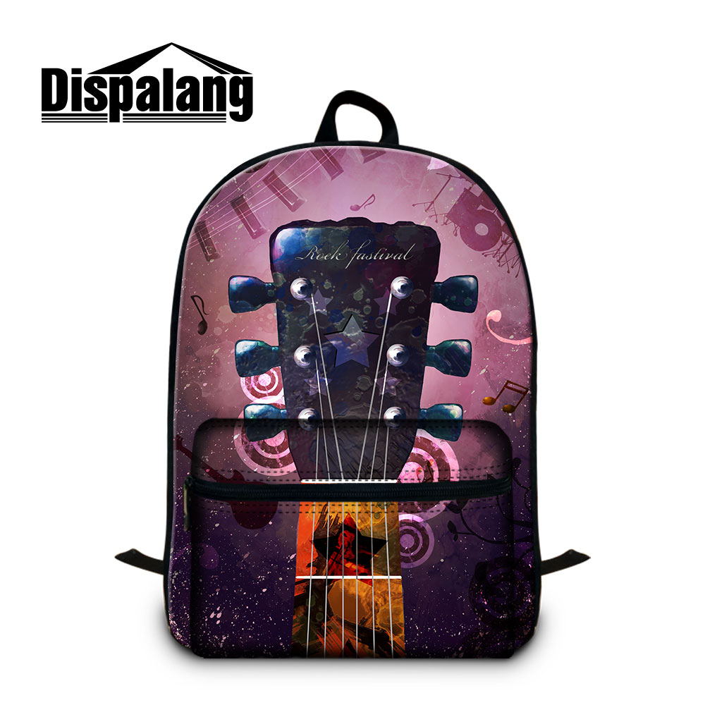 Dispalang Double Zippers Stylish Laptop Backpacks Messenger Best Travel Bag Musical Leitmotivs in Business Backpack for Student