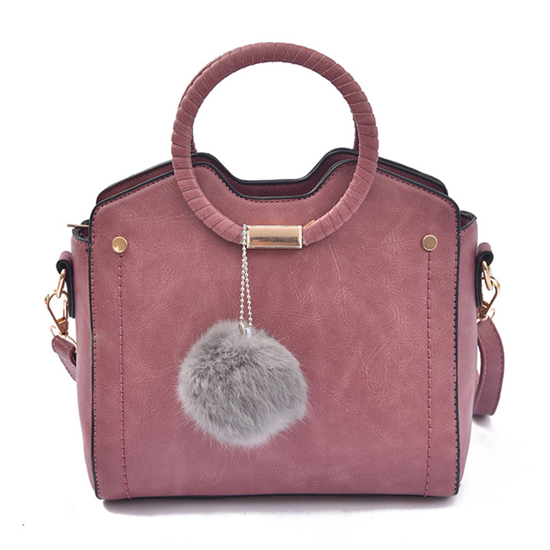 Women Bag Female Handbags Leather Messenger Shoulder Bag Crossbody Tote Hair Color Bags Rivet Zipper Luxury Designer Casual Bags sunmejoy fashion ribbons handbags designer women bag crossbody bags rivet shoulder bags embroidered floral women messenger bag