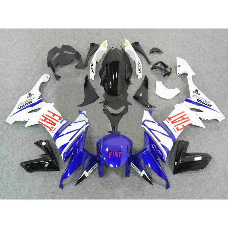 Custom Motorcycle ABS factory fairing KIT for 2008 2009 2010 Kawasaki ZX10R white blue bodywork Fairings Ninja ZX-10R 08 09 10 motorcycle fairing kit for kawasaki ninja zx10r 2006 2007 zx10r 06 07 zx 10r 06 07 west white black fairings set 7 gifts kd01