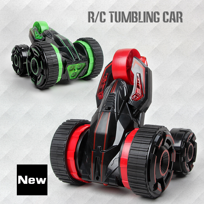ФОТО 2017 RC Car 6CH 5 Wheels Buggy Cars ABS Rotation Crawlers RC Drift Flashing Stunt Car With Radio Remote Control Car Styling!!!